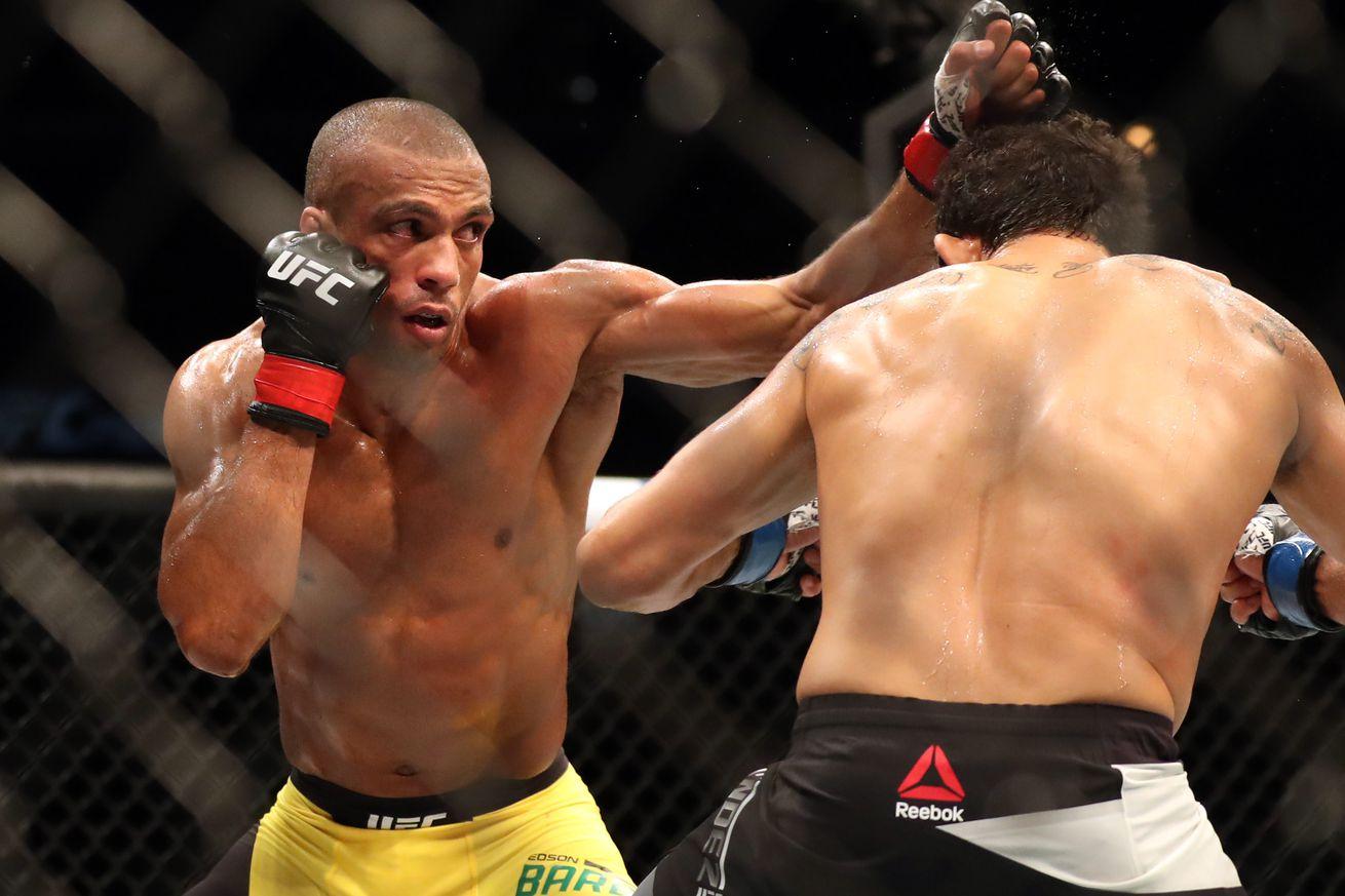 community news, UFC on FOX 20 highlights: Edson Barboza chops down Gilbert Melendez with devastating leg kicks