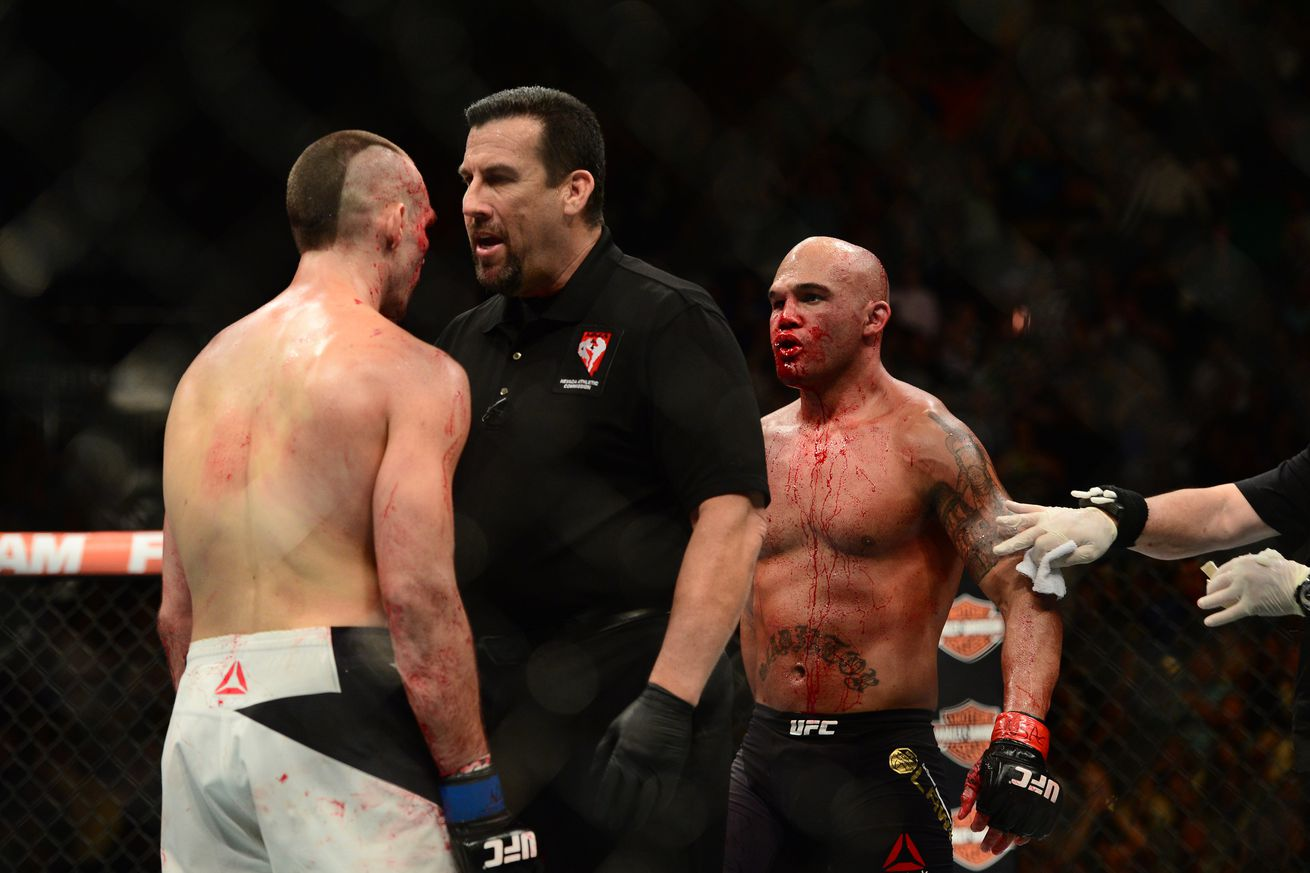 community news, Watch Robbie Lawler vs Rory MacDonald full fight video from UFC 189 bloodbath