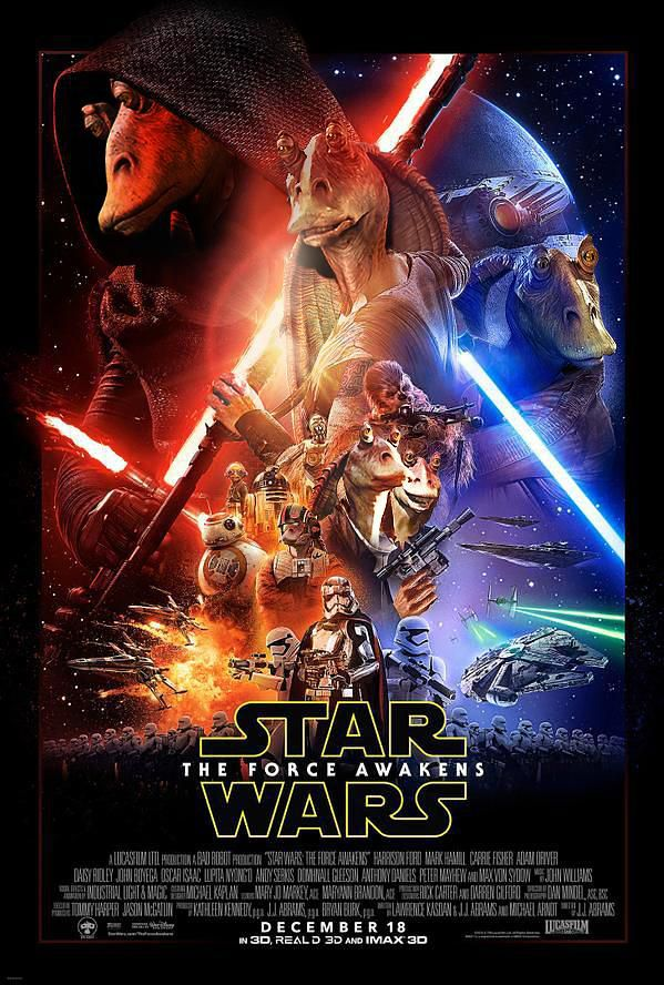 The Binks Awakens Poster