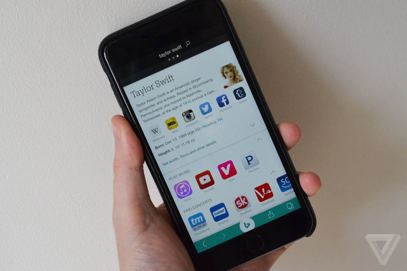 Bing for iOS now lets you search images by taking a photo