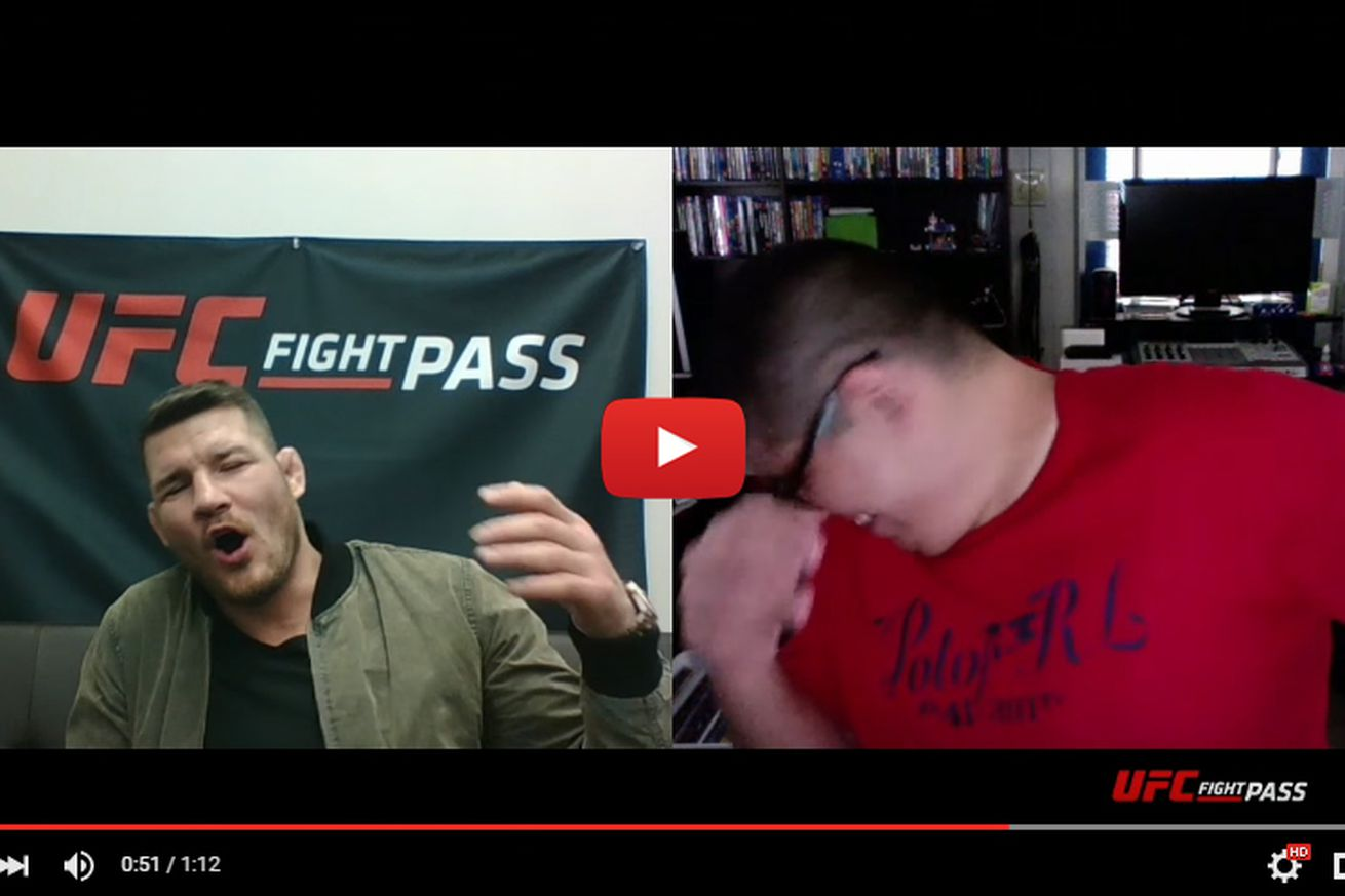 Surprise! Watch Michael Bisping ambush UFC Fight Pass subscribers picking Anderson Silva (Video)
