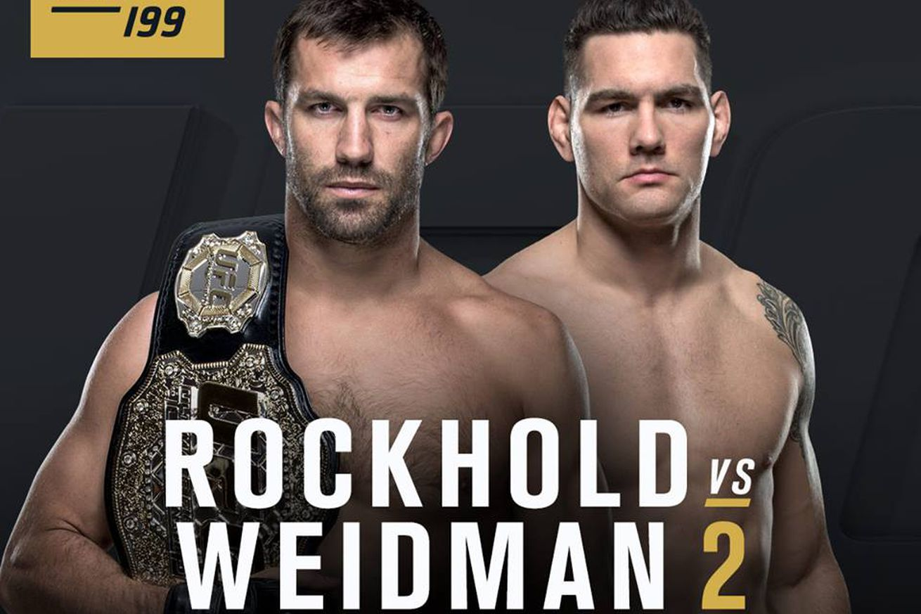 community news, Latest UFC 199 fight card and rumors for Rockhold vs Weidman 2 PPV on June 4 in Los Angeles