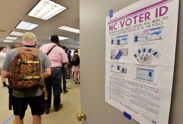 A primary polling place in Raleigh on March 15.