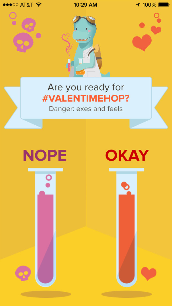 Timehop makes safe Valentine's day with this UX