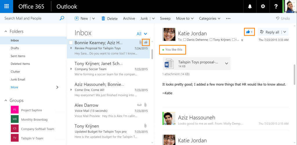 Likes Outlook