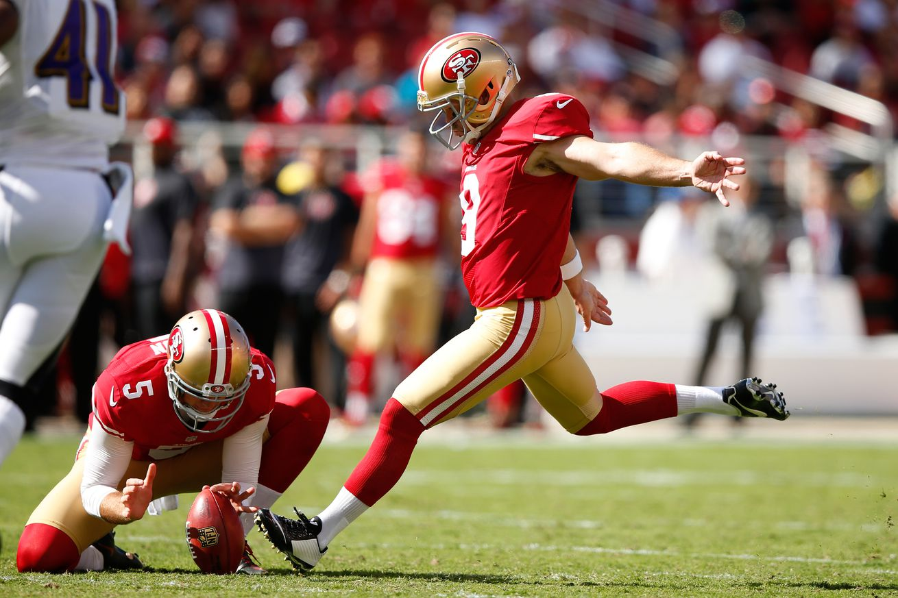 Phil Dawson waited a year to wear Andy Lee's number out of respect