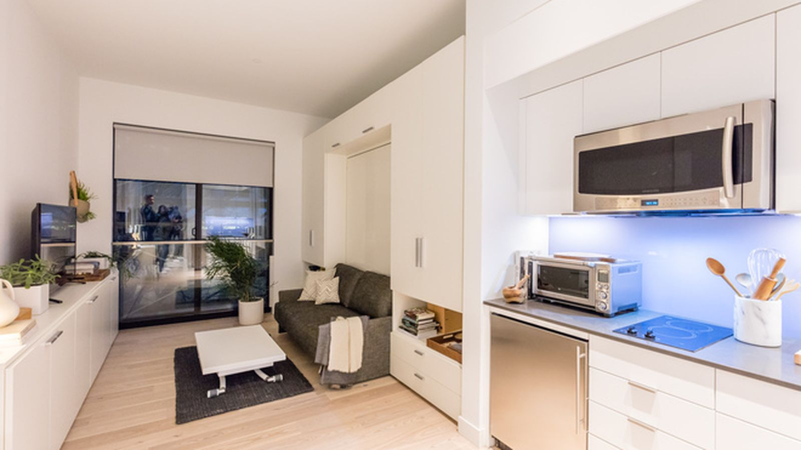 Inside the surprisingly spacious model unit at nyc 39 s first for The model apartment