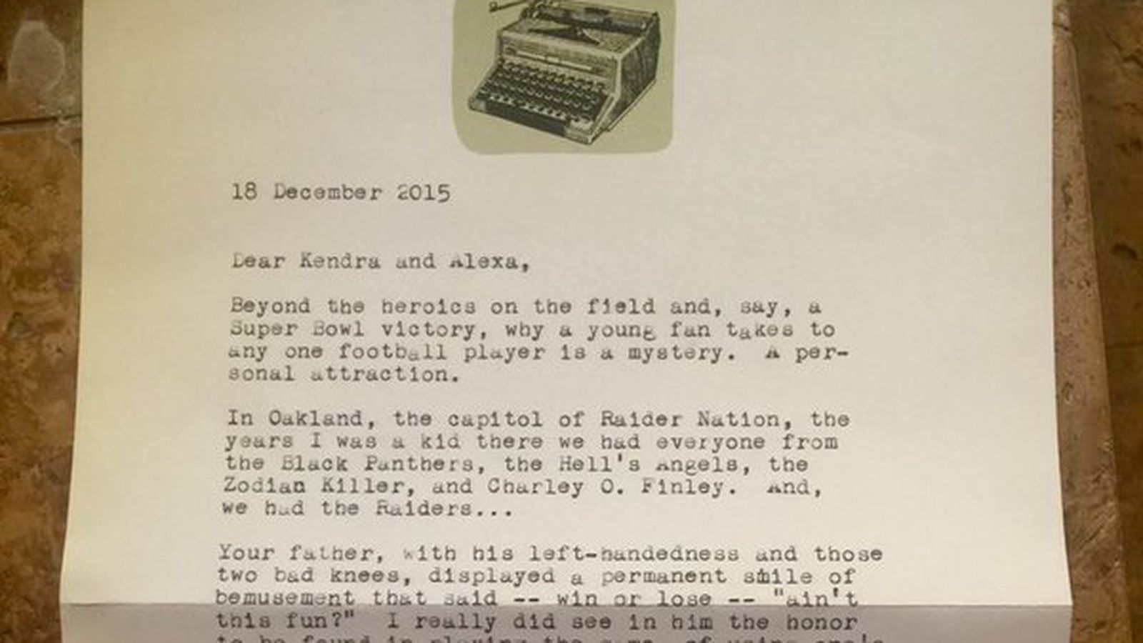 tom hanks wrote a letter to kenny stabler u0026 39 s daughter that