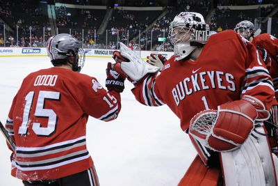 BIG10: 2015 Conference Tournament - Ohio State Defeats Penn State 3-1