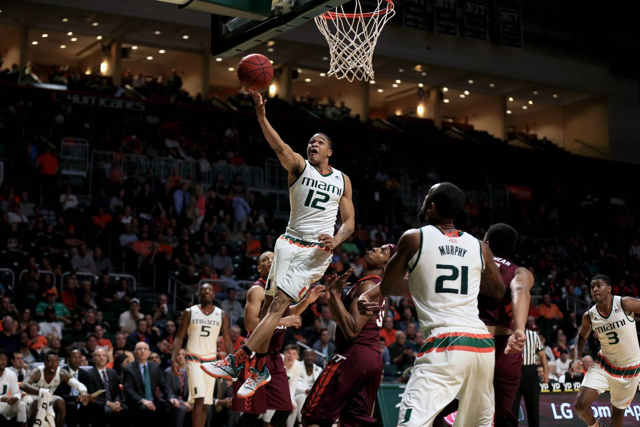 No 12 Miami outlasts No. 3 Virginia 64-61