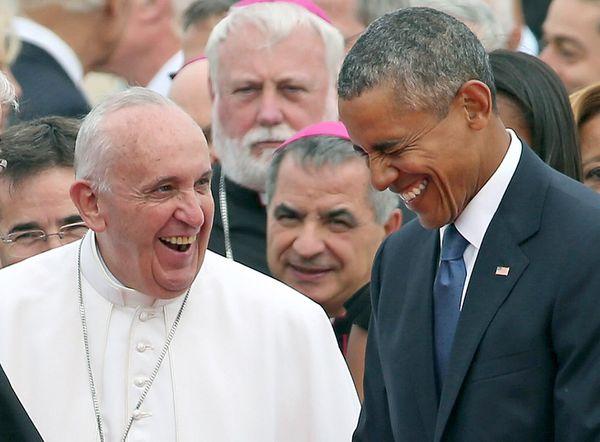 I judge Francis's fake-laugh as superior