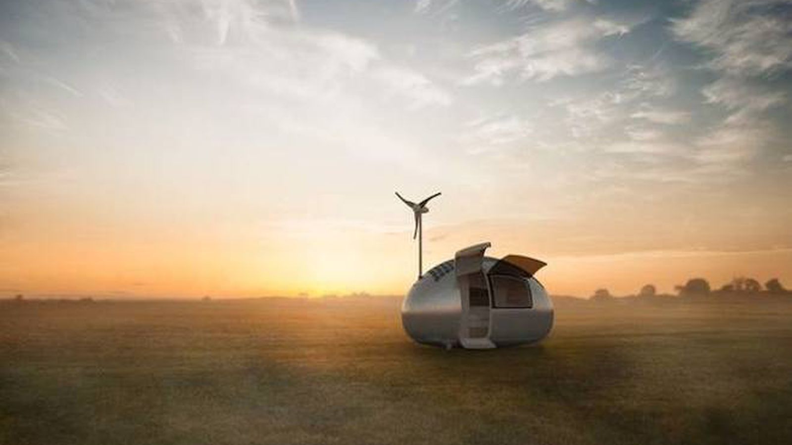 This Wind And Solar Powered Portable Tiny Dwelling