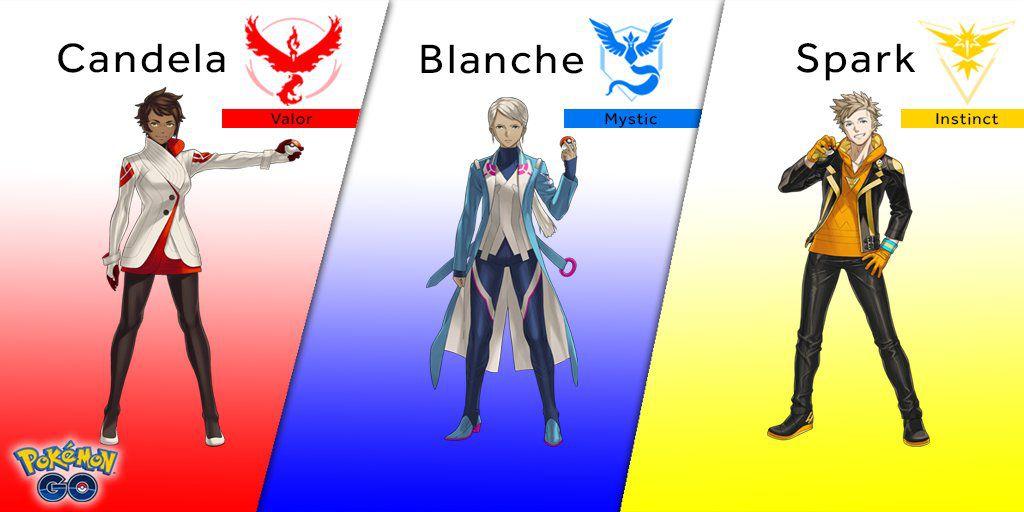 Ba đội trưởng đầy tài năng trong Pokemon Go