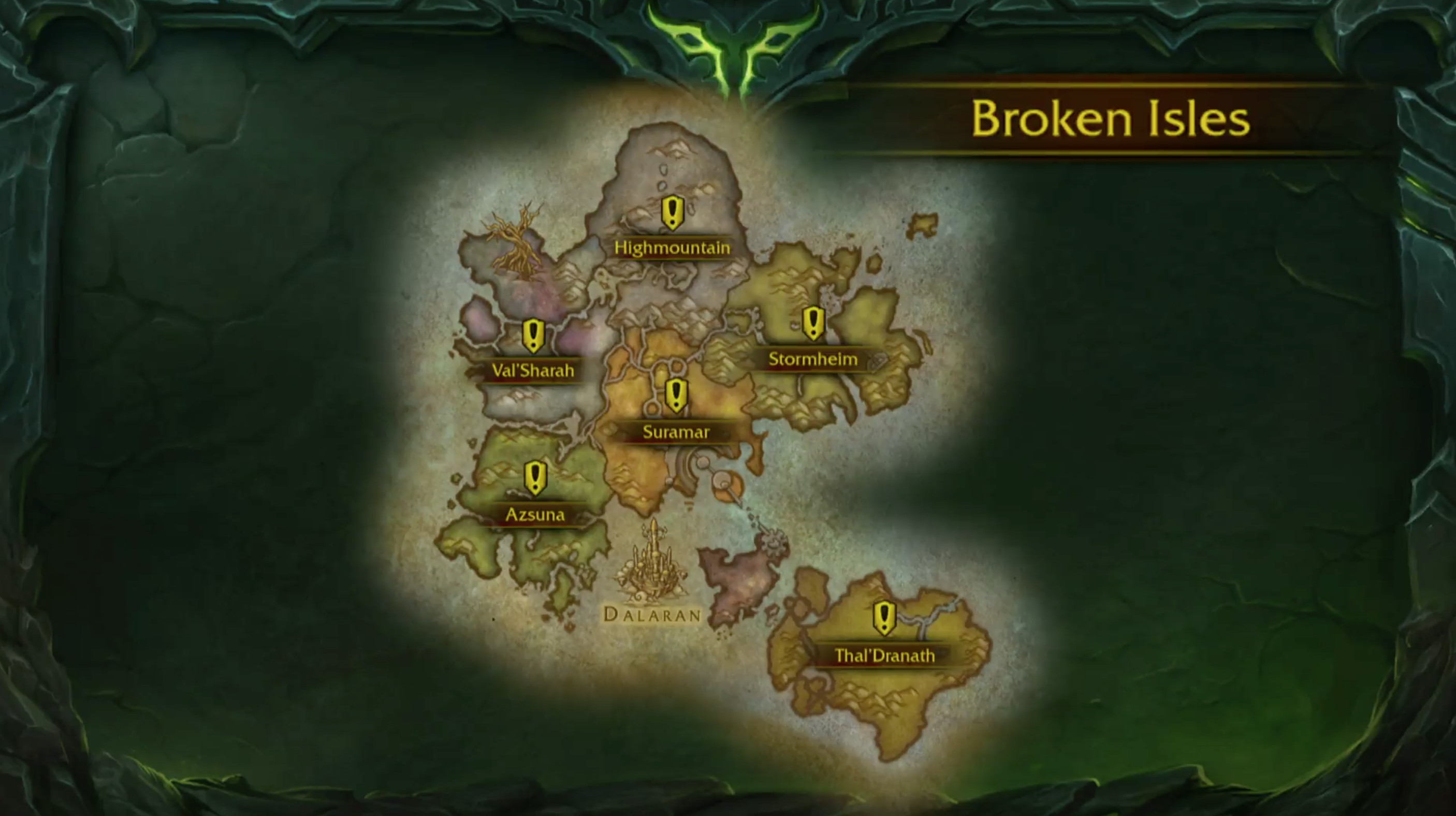 WoW: Legion - the Brokent Isles