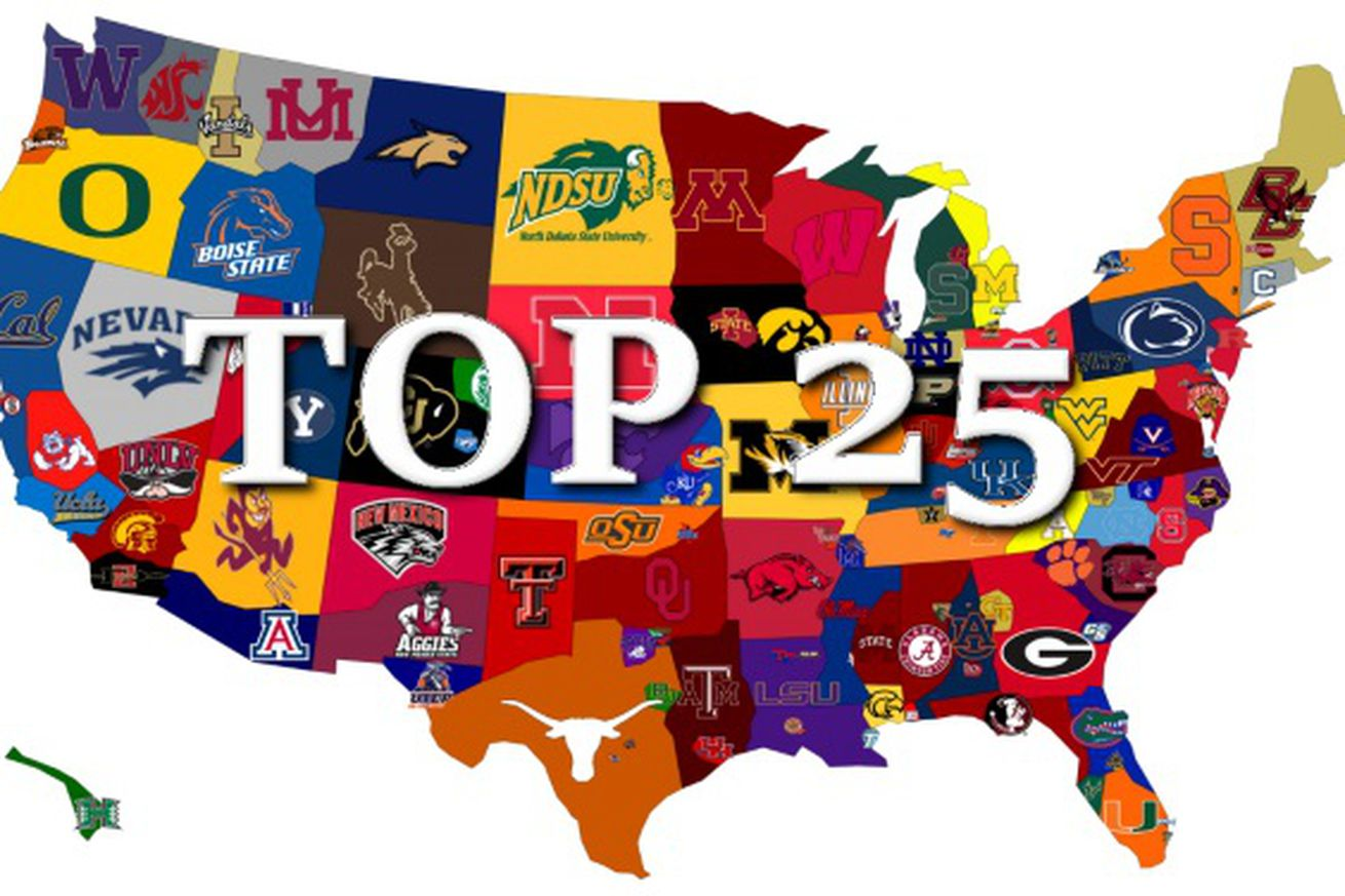 College Football AP Top 25 Poll And ESPN Power Rankings
