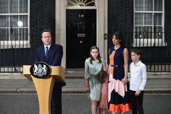 Cameron on his last day at 10 Downing.