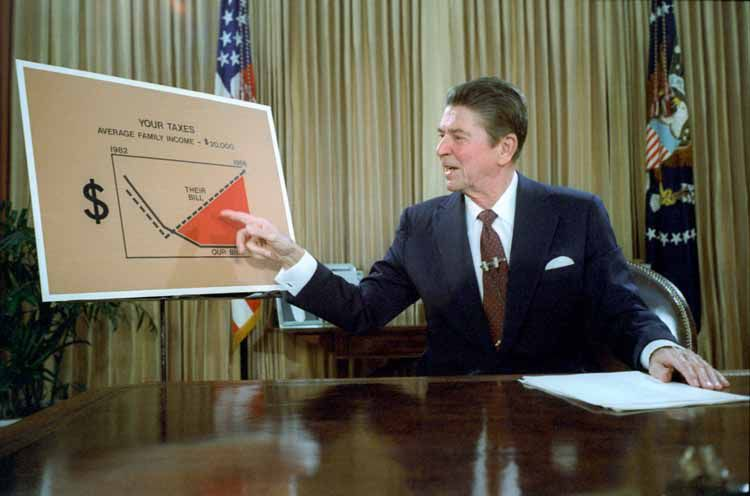 Ronald Reagan outlines his tax cut plan