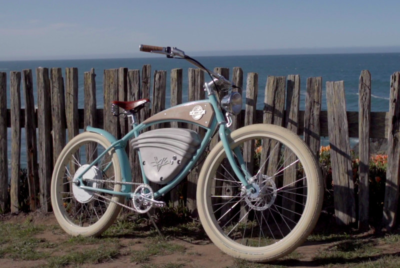 These old school electric bicycles look like a 1950s dream