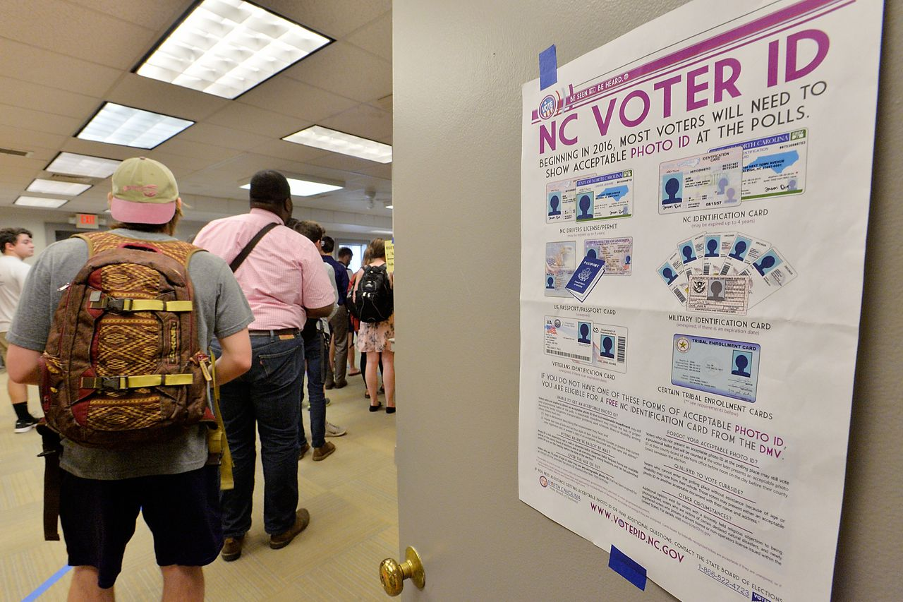 US courts block restrictive voter ID laws in 2 states