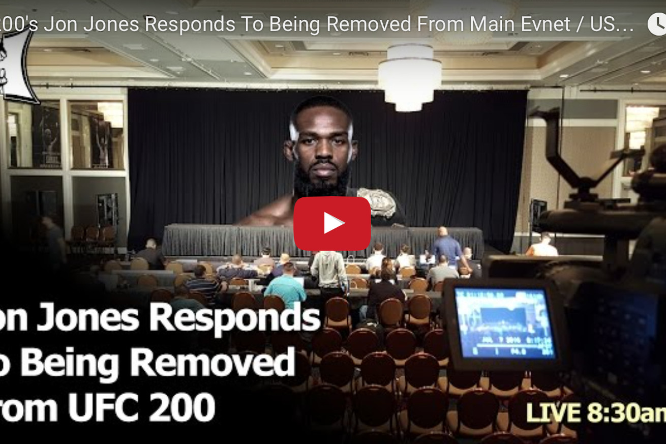 community news, LIVE! Watch Jon Jones press conference after doping related UFC 200 removal