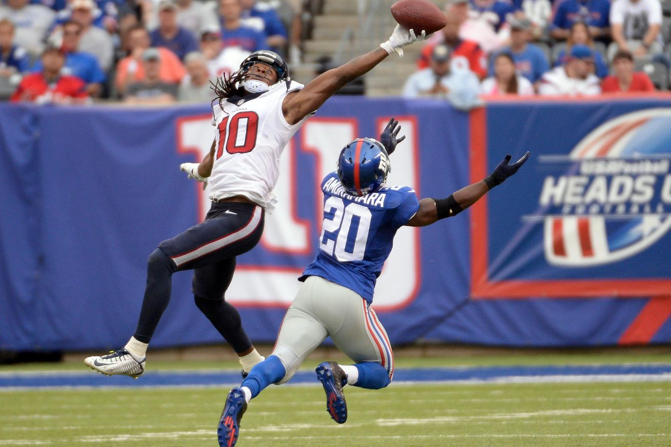 Texans receiver DeAndre Hopkins ends 1-day holdout