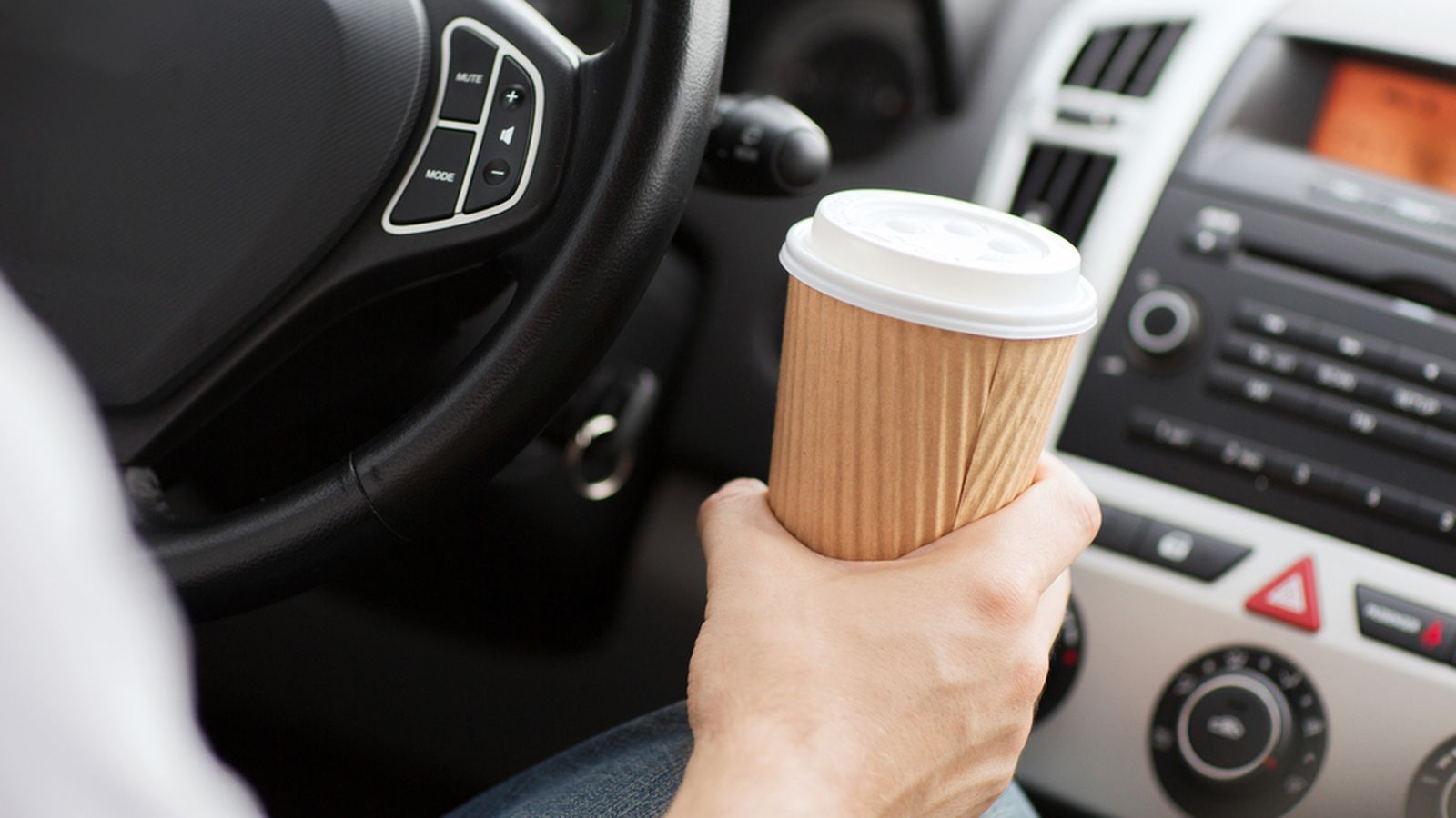 Cop Pulls Driver Over For Drinking Coffee Eater