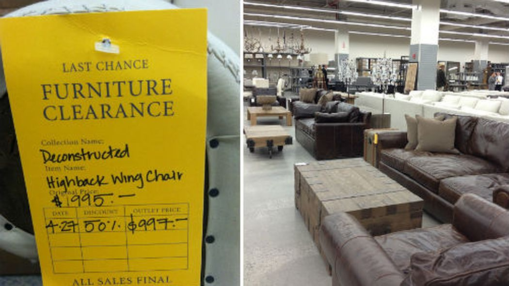 Woo There S Now A Restoration Hardware Outlet In Queens