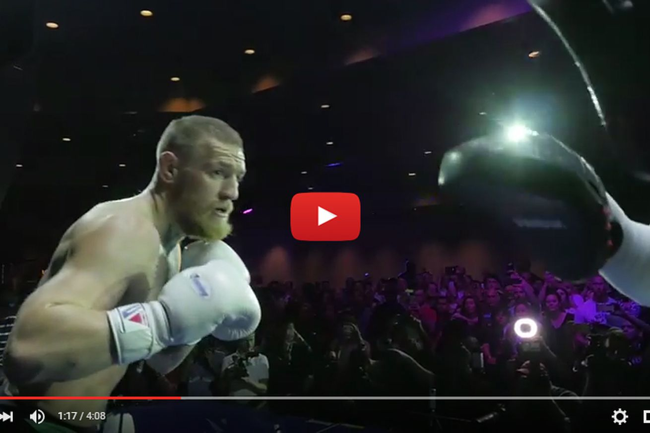 community news, UFC 196 open workout video highlights for McGregor vs Diaz in Las Vegas