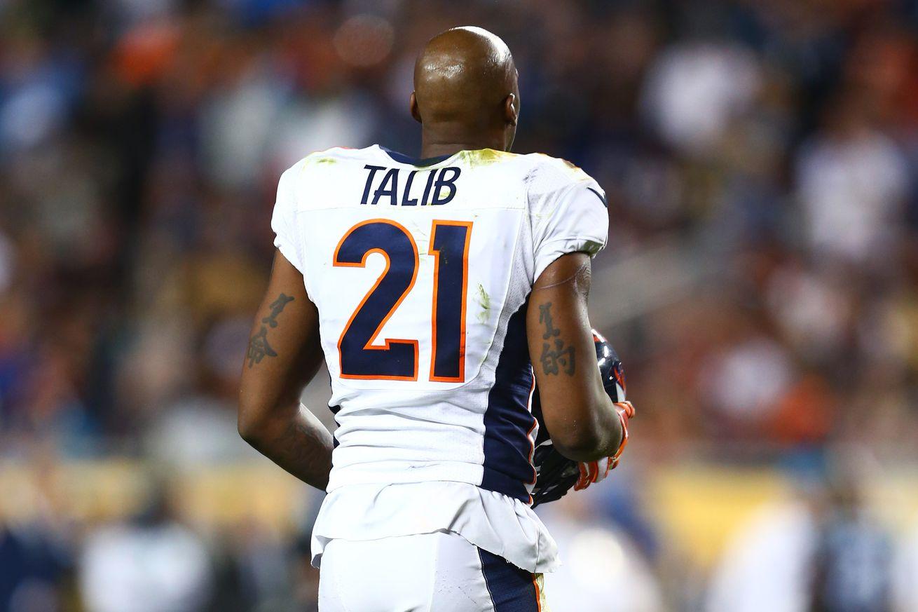 Broncos Talib makes training camp debut