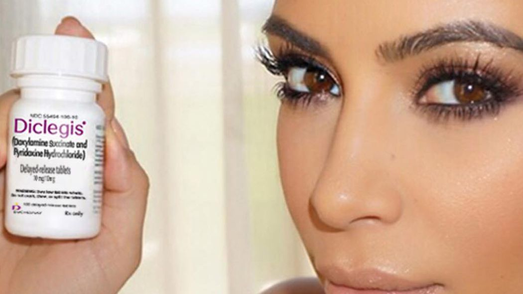 Kim kardashian reposts morning sickness drug ad to fda s liking