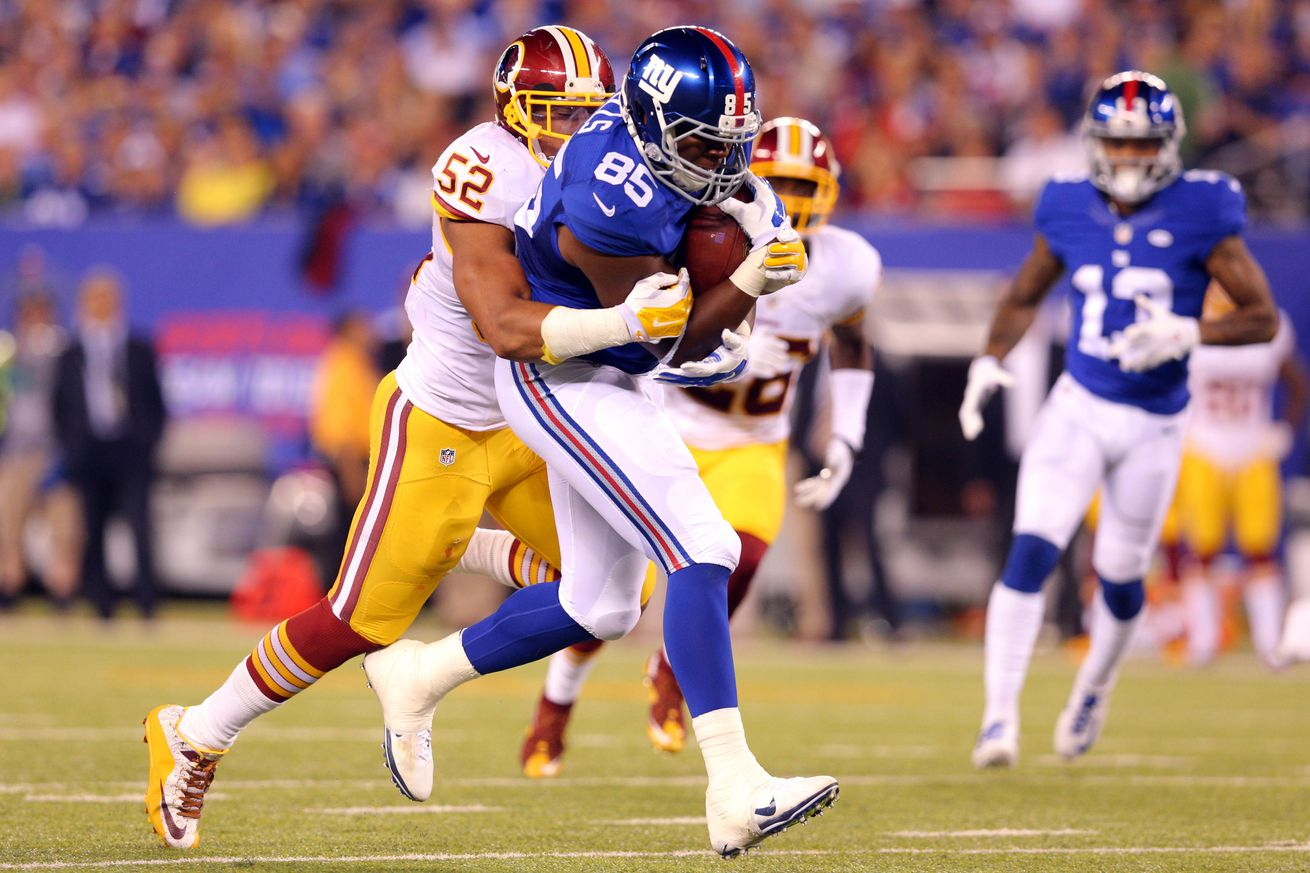 NFL Jerseys Nike - Injuries to Daniel Fells, Victor Cruz, and Marcus Kuhn -- Now what ...