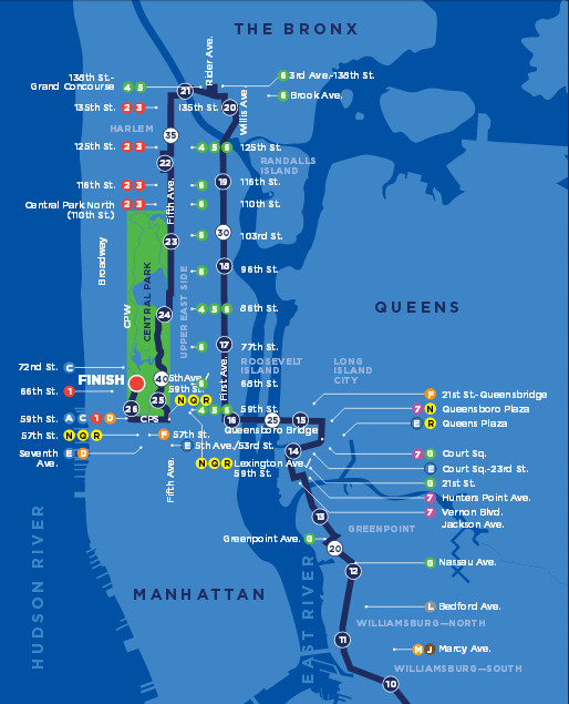 NYC Marathon 2015 Time TV Schedule Map Route And