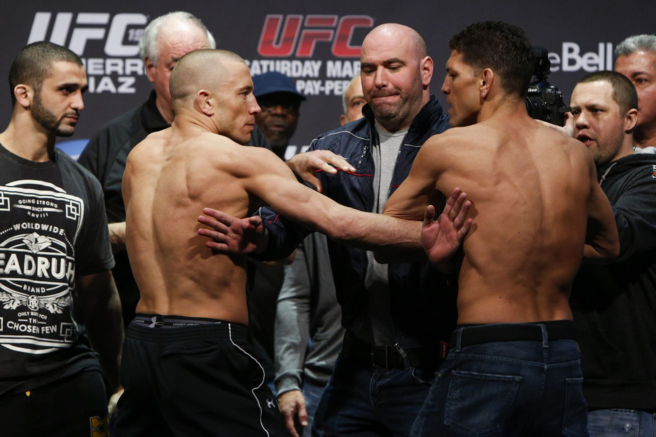 community news, Coach: Georges St Pierre spent 'entire night vomiting' before Nick Diaz fight