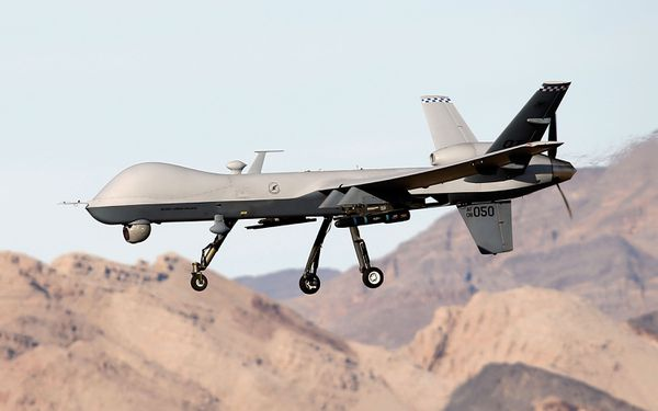 An MQ-9 Reaper in Nevada.