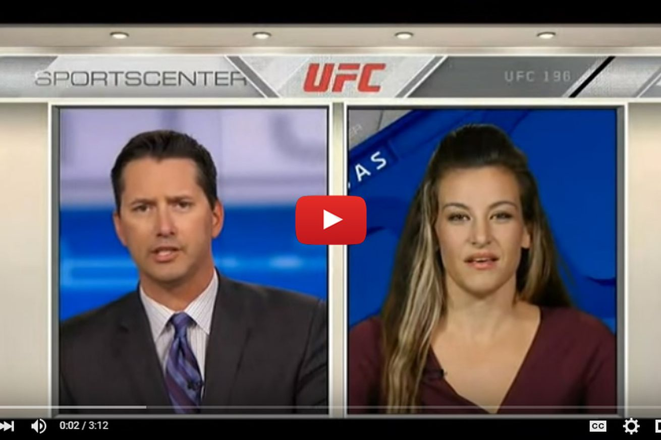 community news, Video: Miesha Tate on SportsCenter, admits to wanting Holly Holm vs Ronda Rousey rematch