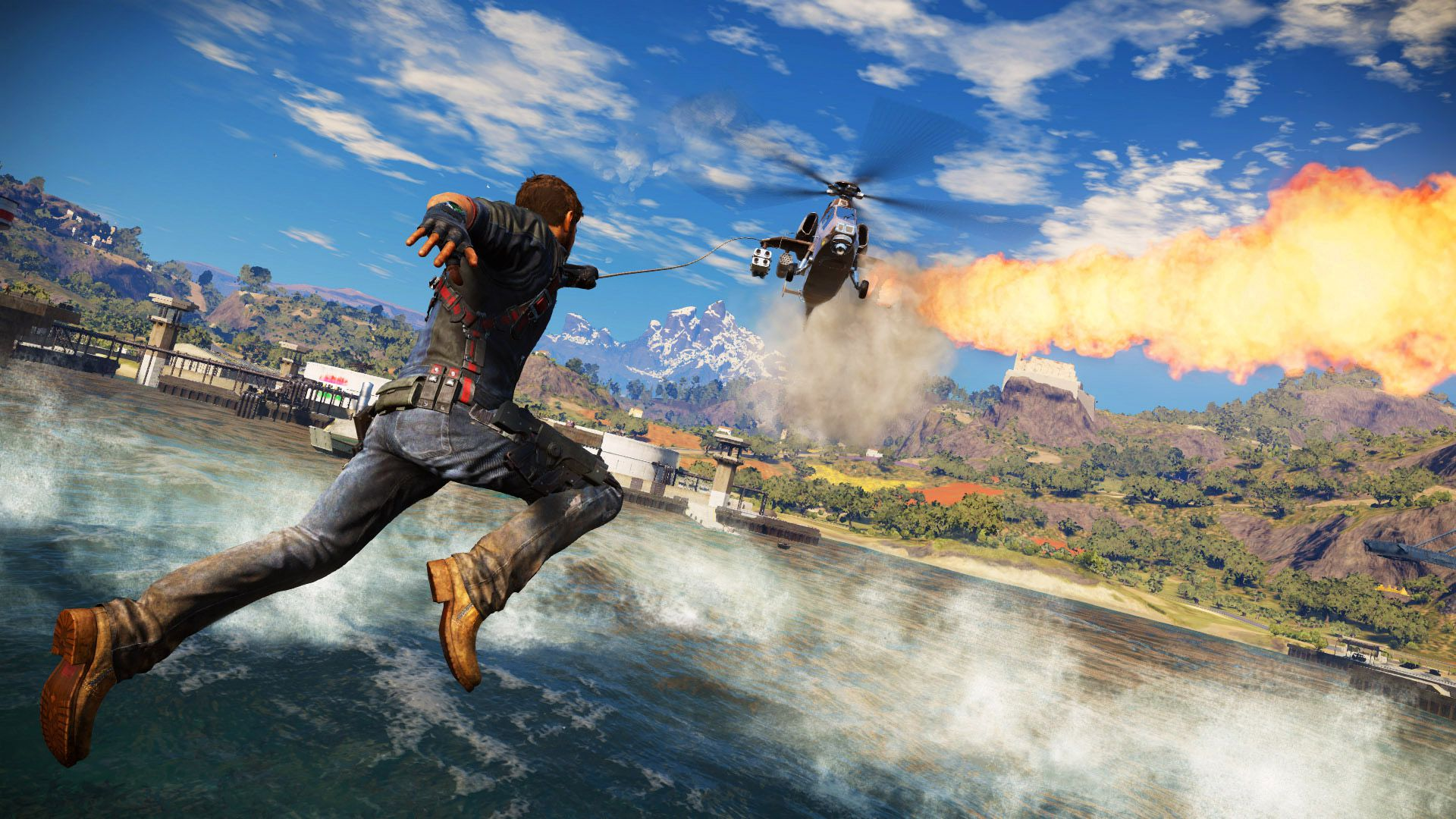 Watch Just Cause 3's explosive gameplay walkthrough from E3 2015