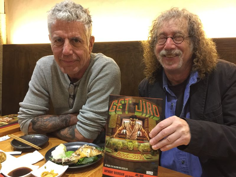 How Anthony Bourdain's Pop-Culture Obsessions Fuel 'Get Jiro' :   Anthony Bourdain, and co-author Joel Rose released their second installment of Get Jiro