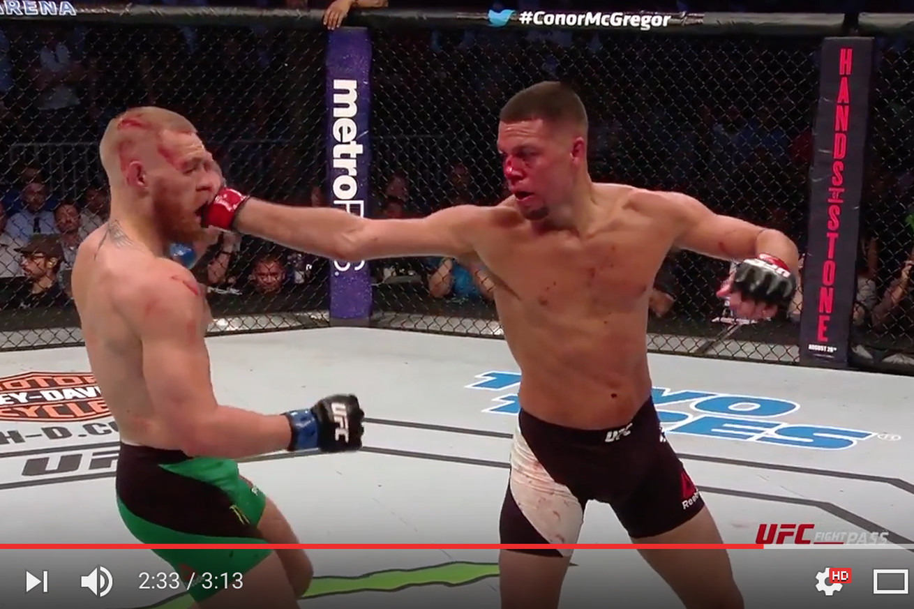 UFC 202 Fight Motion video: Conor McGregor eats the Stockton Slap in super slow motion