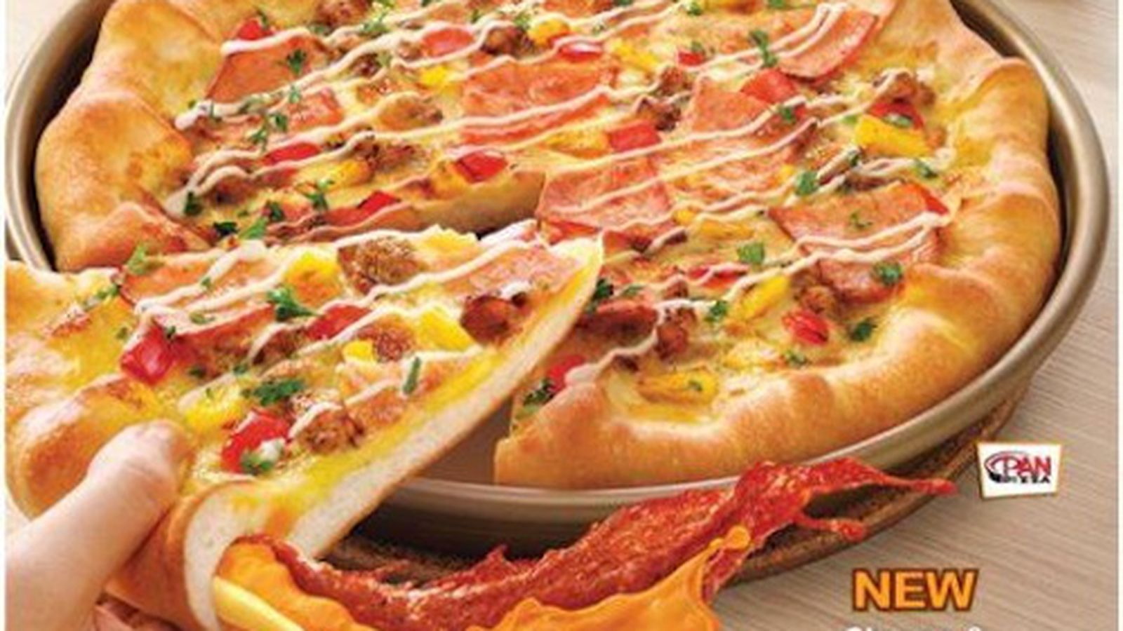 bizarre oozy super pan pizza from pizza hut malaysia eater. Black Bedroom Furniture Sets. Home Design Ideas