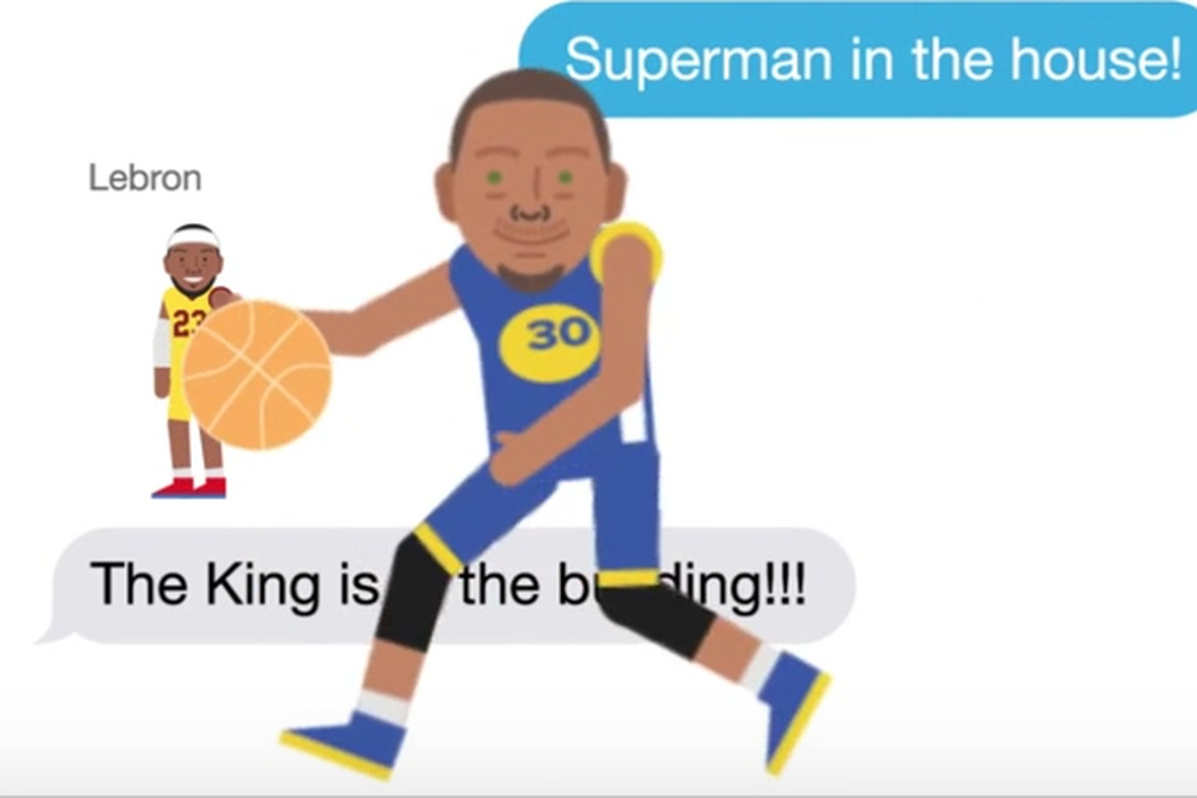 Stephen Curry, LeBron James become emojis just in time for their