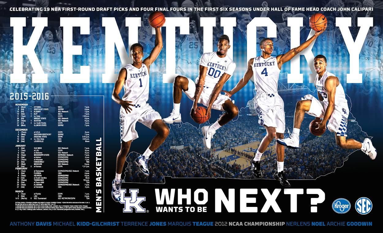Kentucky Wildcats Basketball Posters Unveiled; How you can get one - A Sea Of Blue