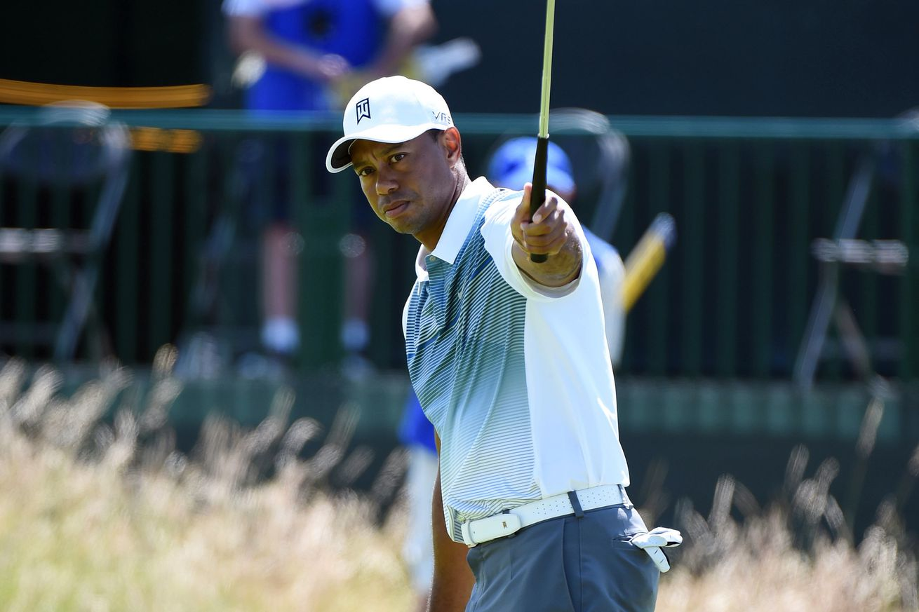 british open scores 2014  rory mcilroy leads  tiger woods