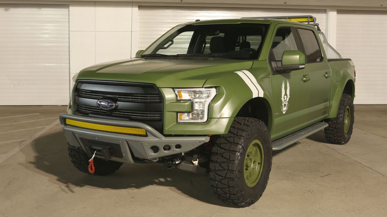 now look here ford done made a pickup truck for halo 5 guardians polygon. Black Bedroom Furniture Sets. Home Design Ideas