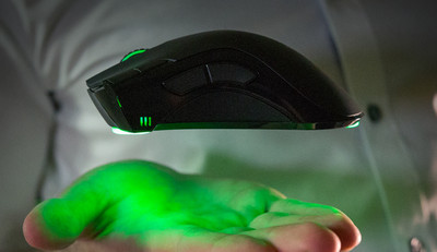 The Worlds First Hovermouse That Removes 100 Percent Of Friction By Floating Above Your Desk Or Any Other Flat Surface Using RazerWave Hover Drivers