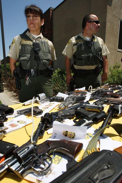California law enforcement guns