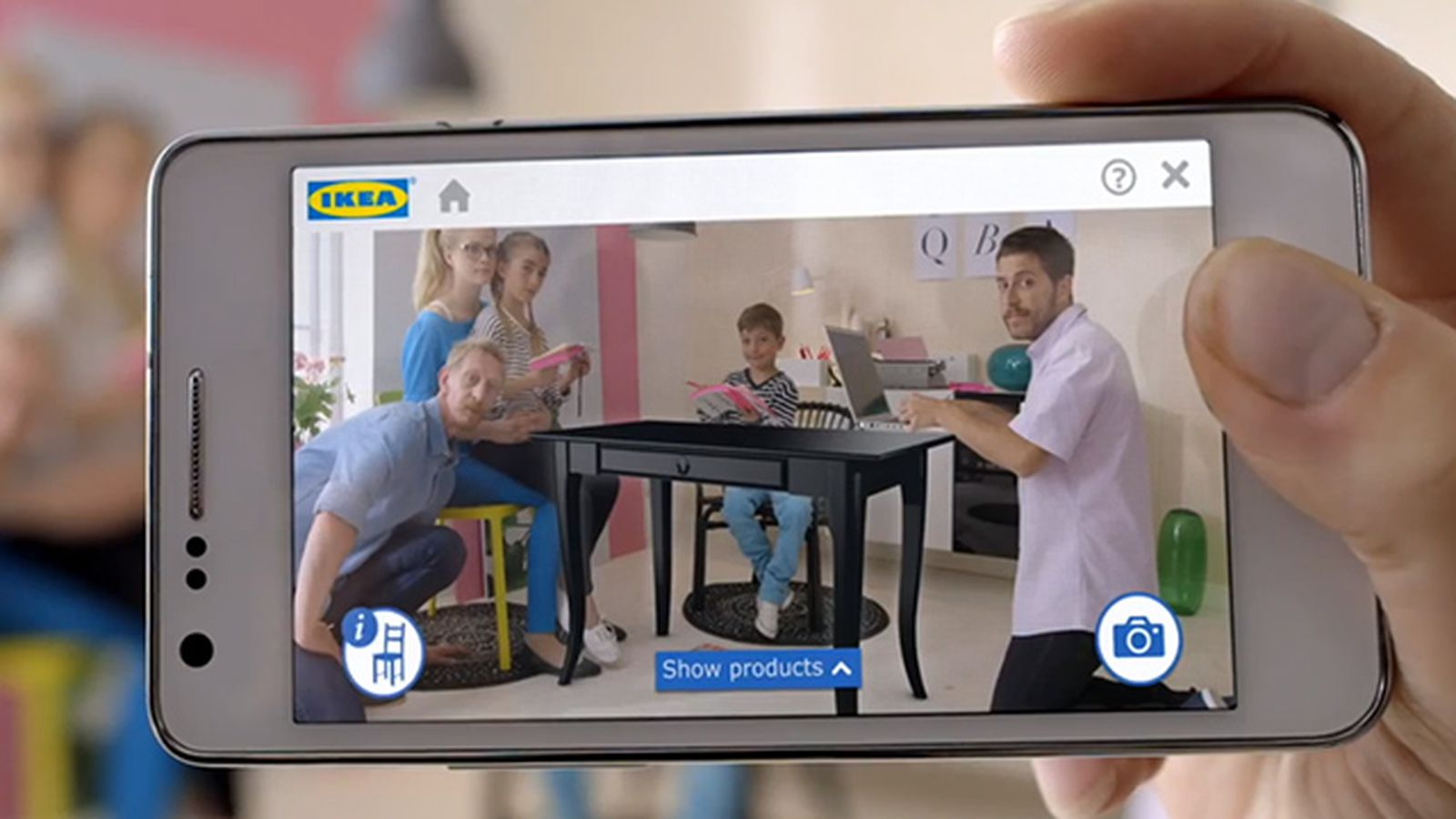 Ikea app projects virtual furniture into your living room for Ikea virtual room