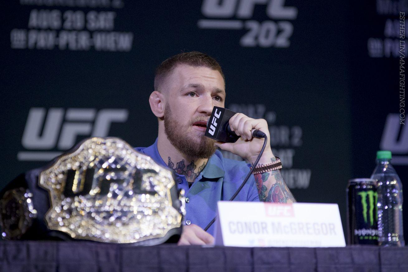Conor McGregor responds to wild scene at UFC 202 press conference