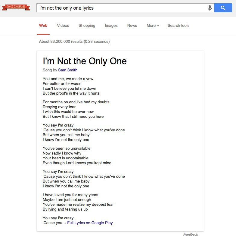 Google now shows song lyrics with search results | The Verge