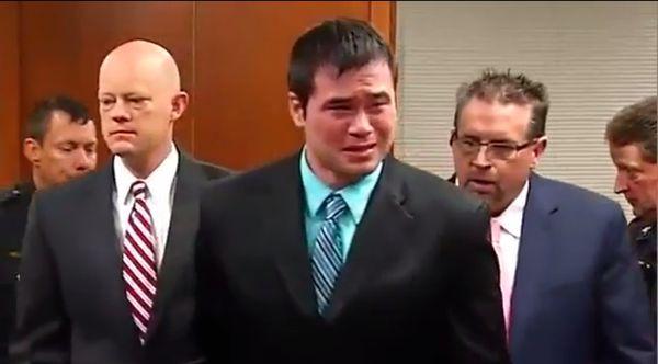 Daniel Holtzclaw receives his guilty verdict in court Thursday night.