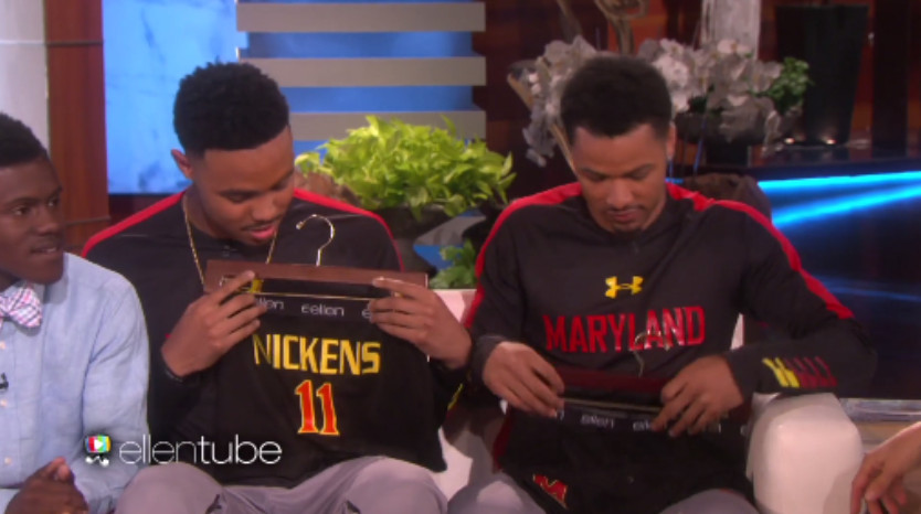 Maryland basketball players do 'running man' on 'Ellen'
